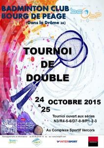 affiche tournoi BCBP de doubles