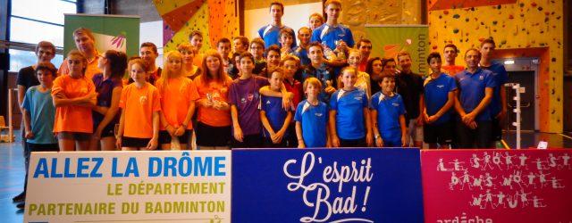 Ce weekend, la Drômardèche a organisé la quatrième édition du Championnat Départemental Jeunes (ChDJ). Co-Organisée par le club de Pierrelatte (EBP 26) et le comité Drôme Ardèche de badminton, cette […]