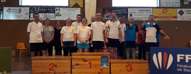 Ce weekend a vu naître le 1er Championnat Départemental Seniors et Vétérans porté par le Comité Drôme Ardèche de badminton à Châteaueuf-Sur-Isère. 104 personnes sont venues participer à cette grande […]