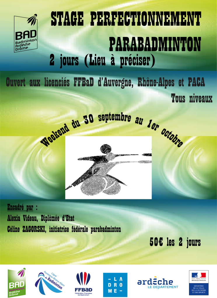 Affiche stage perfectionnement 30 sept 1 oct