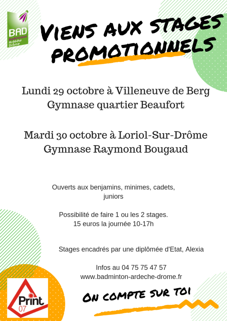 Flyer stages promos toussaint vf