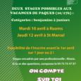 A Pâques, nous proposons deux stages promos jeunes (Benjamins à Juniors) : -Un à Ruoms le mardi 10 avril. Plaquette stage promotionnel Ruoms -Un à St Marcel-Les-Valence le jeudi 12 […]